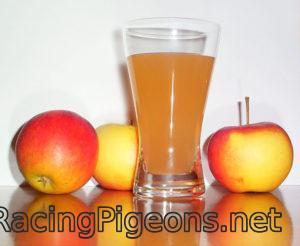 Ябълков оцет във водата на гълъбите